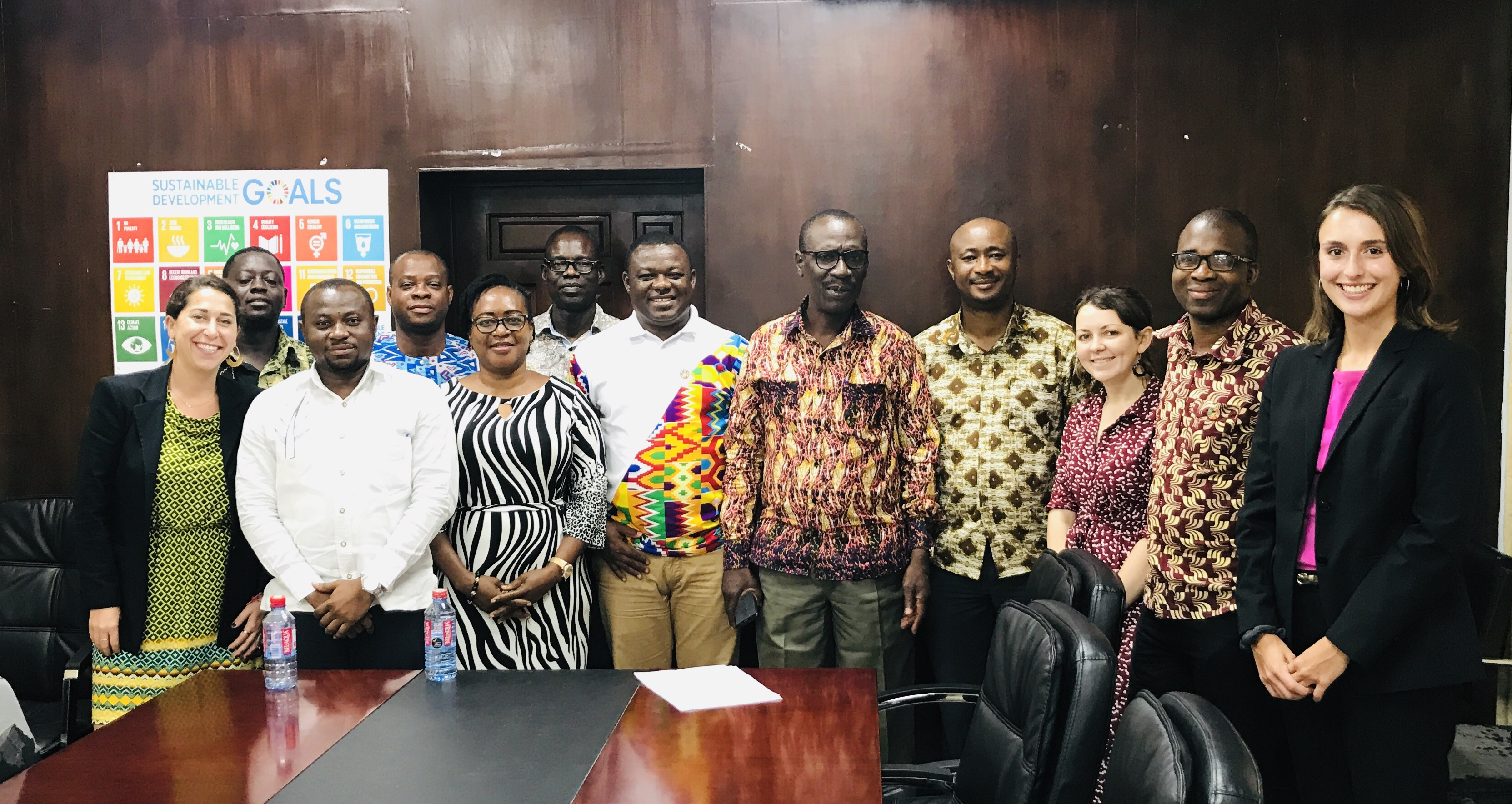 AidData staff meet with the Ghana Statistical Service (GSS) and the Ministry of Health during a trip in fall 2019. Photo by Elizabeth Teare for AidData.