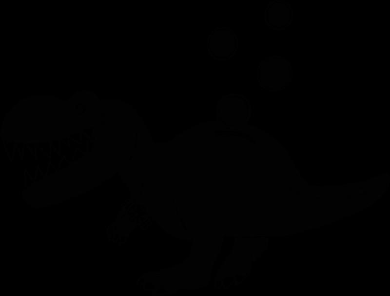 A tyrannosaurus rex piggy bank