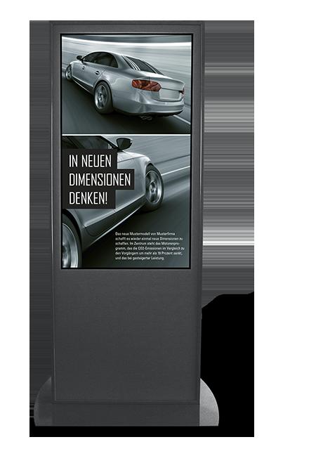 Digital Signage Stele für ein Autohaus