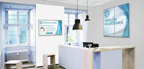 Digital Signage in einer Arztpraxis