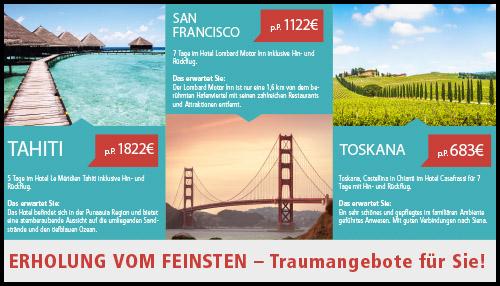 Digital Signage Content in einem Reisebüro