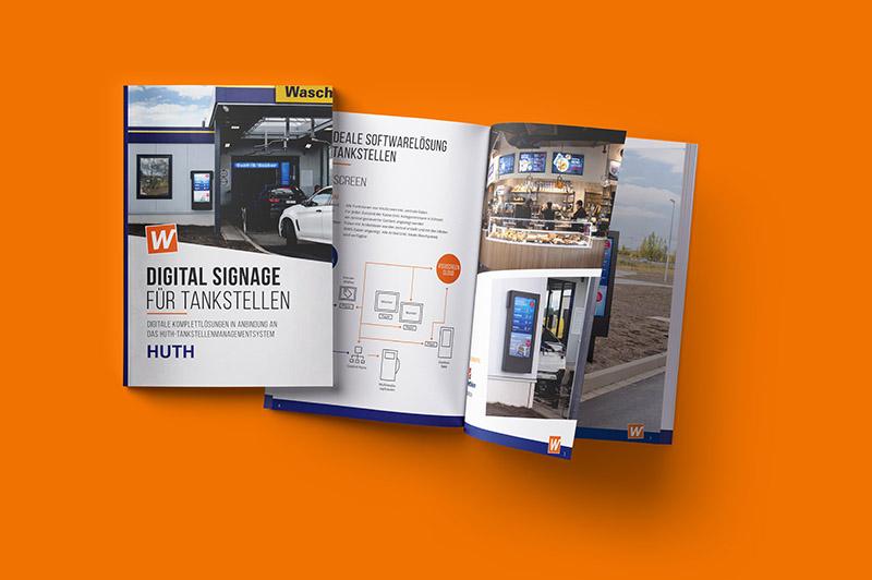 Digital Signage Broschüre für Tankstellen