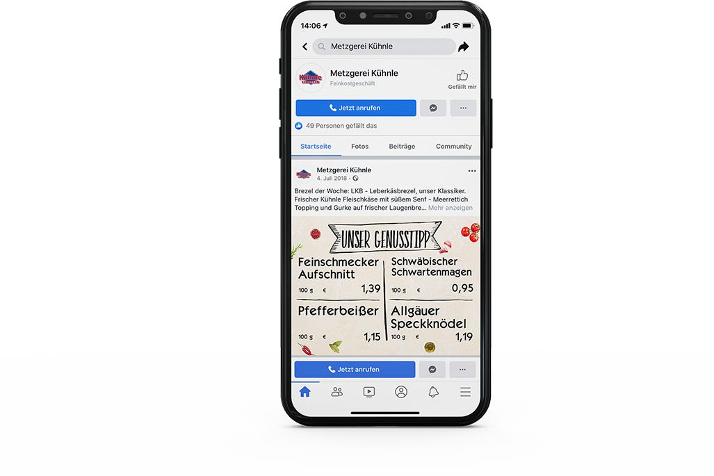 Handy mit VisuScreen App
