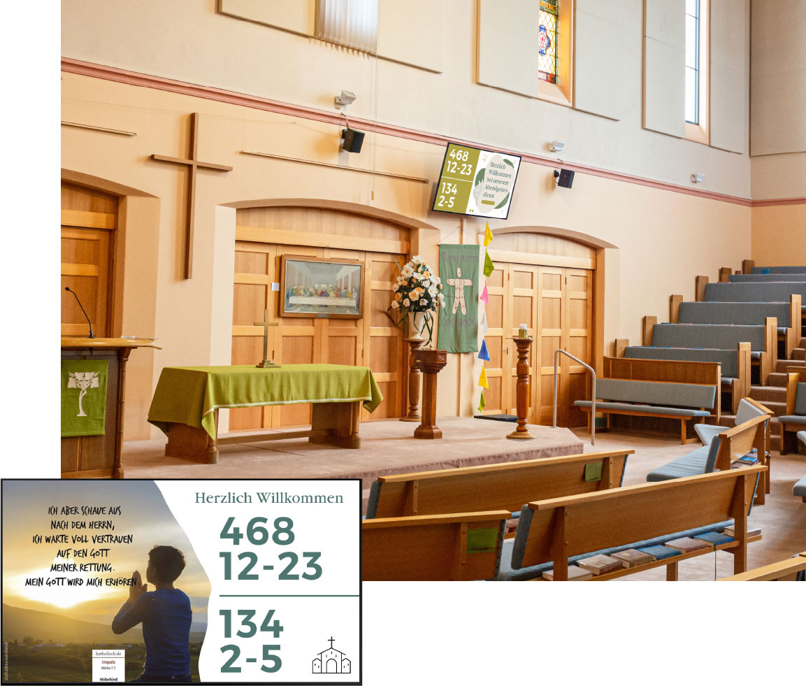 Digital Signage für Kirchen