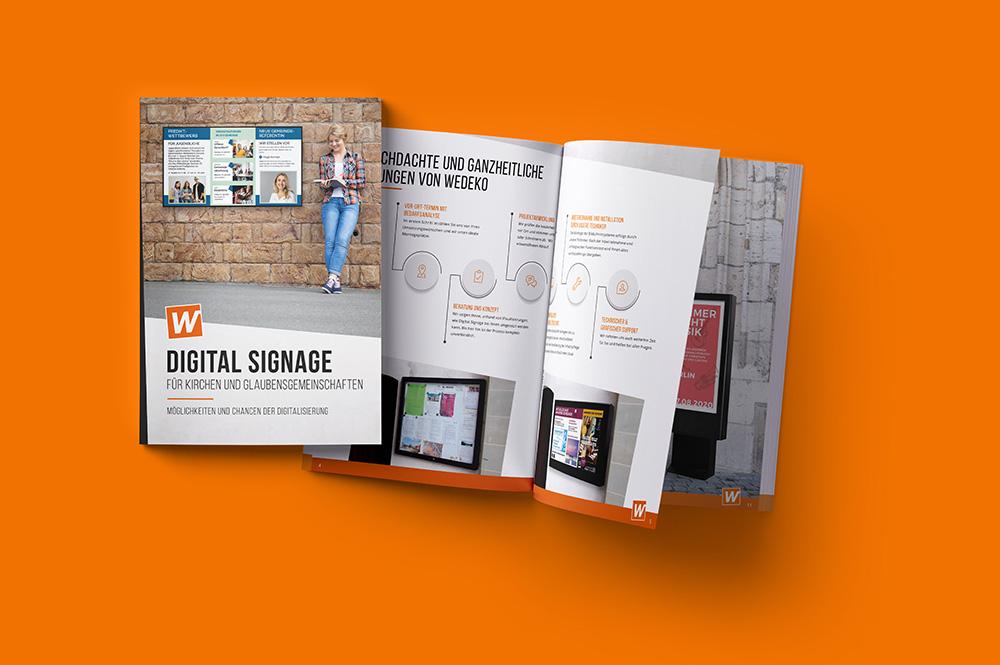 Broschüre Digital Signage für Kirchen