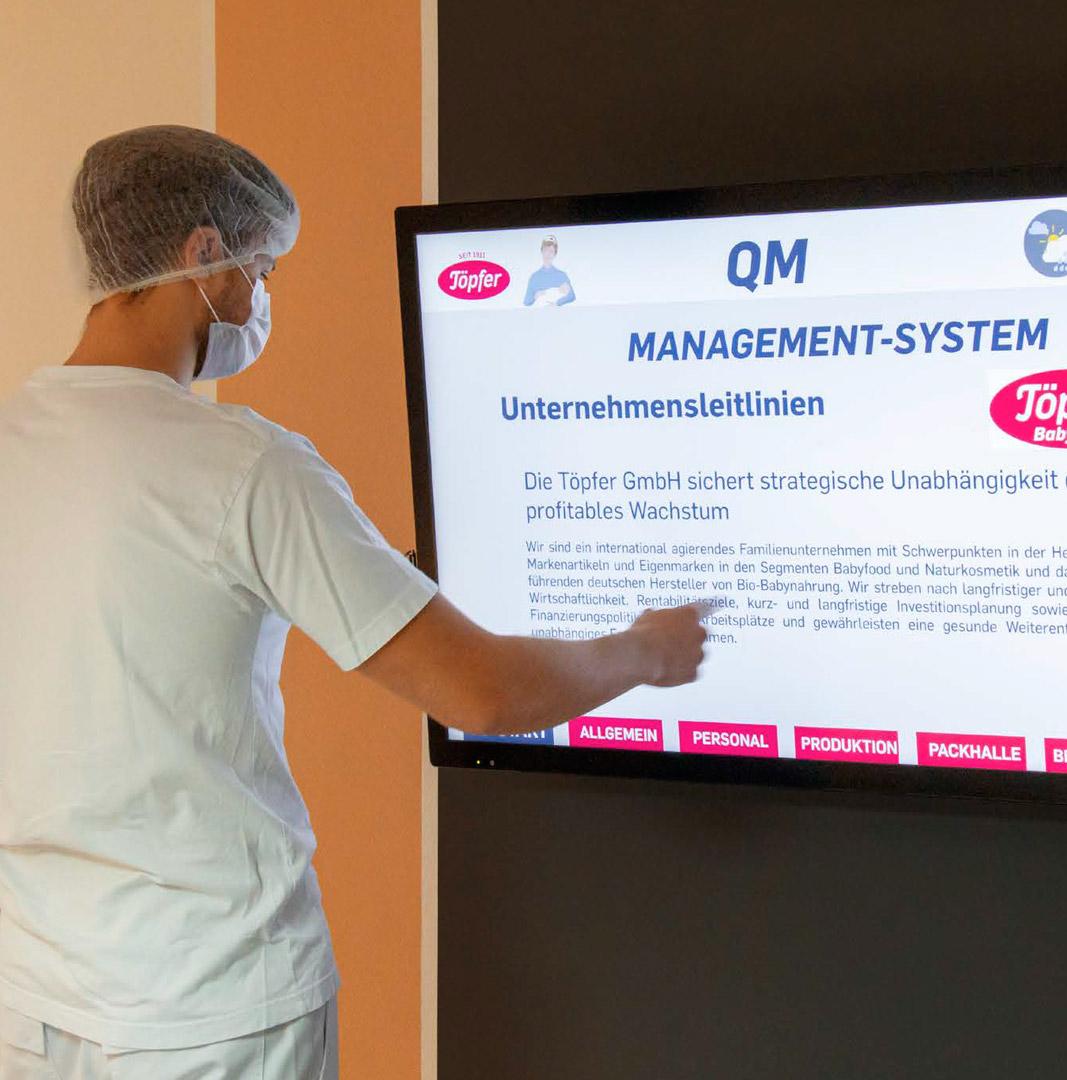 Digital Signage bei einem Unternehmen