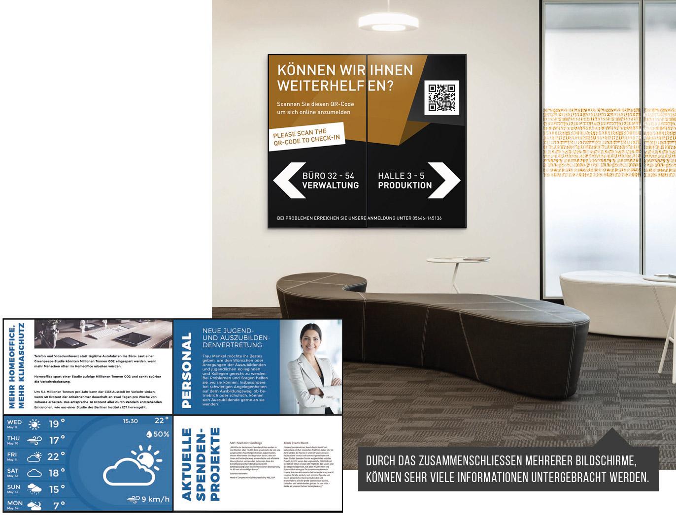 Digital Signage in einem Unternehmen