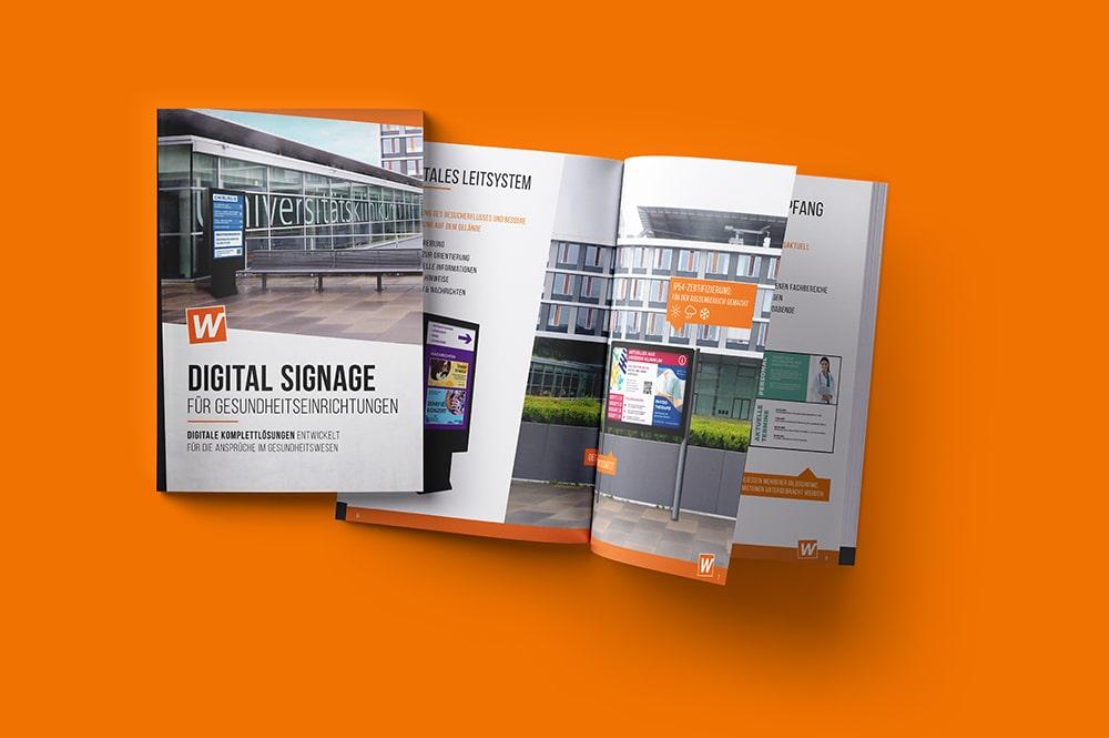 Broschüre über Digitale Lösungen für Gesundheitseinrichtungen