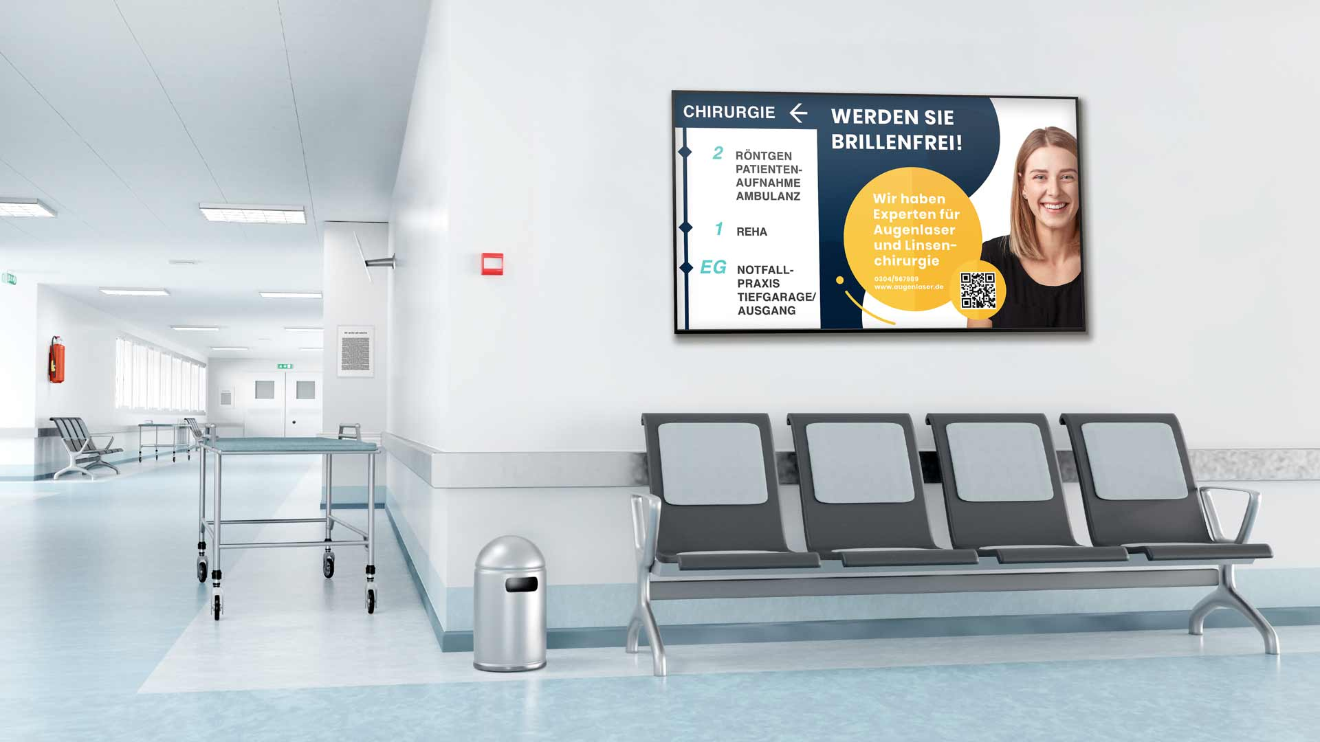 Digital Signage im Krankenhaus