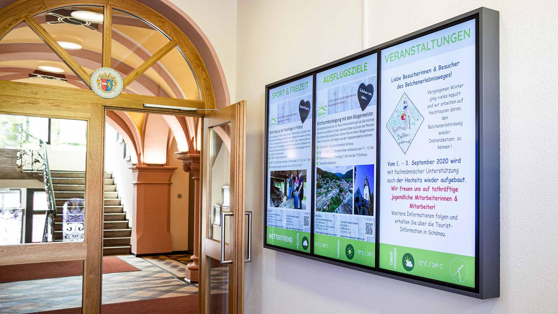 Digital Signage in einer Kommune Stadtverwaltung