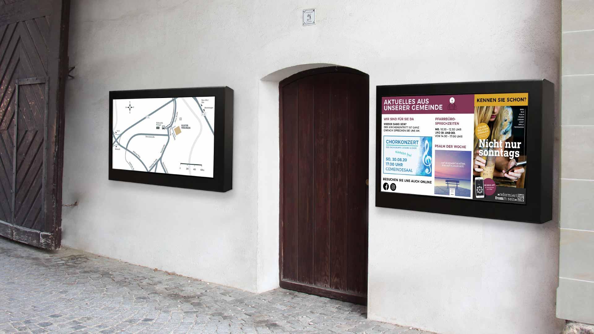 Digital Signage in einer Kirche