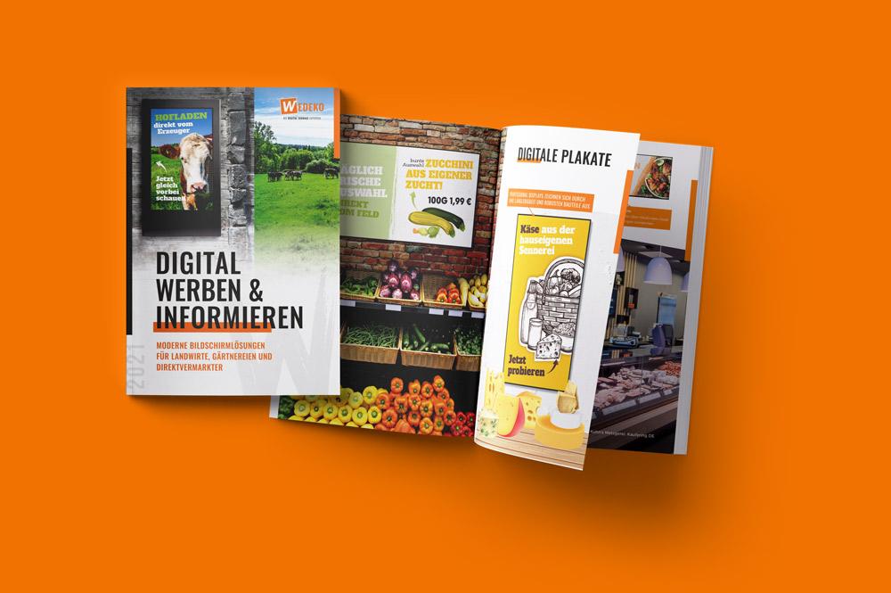 Digital Signage Broschüre für Landwirte, Direktvermarkter und Gärtnereien