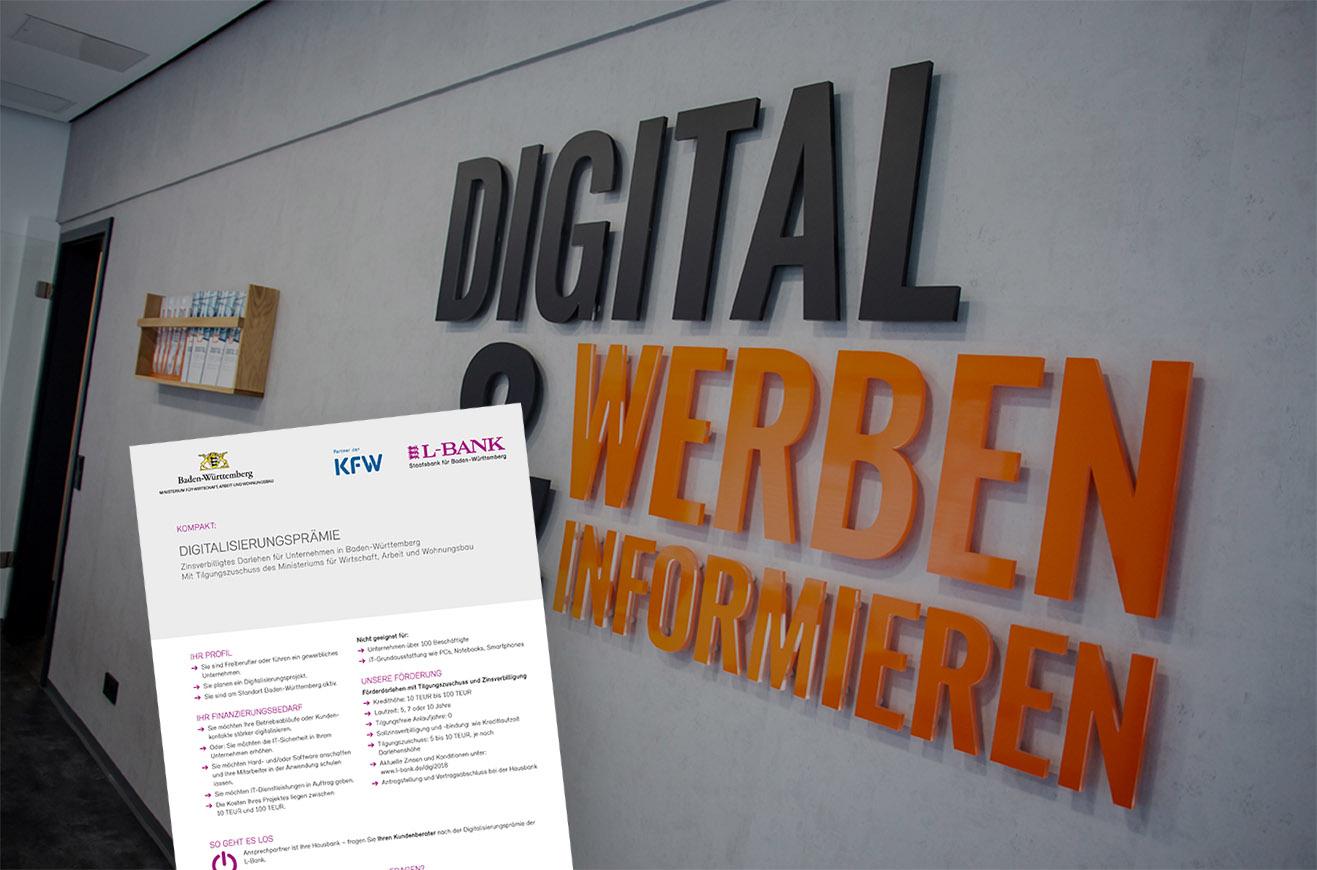 Nutze die Vorteile von digitalen Bildschirmsystemen. Informiere dich in deinem Bundesland über die Möglichkeiten zur Digitalsierungsprämie!