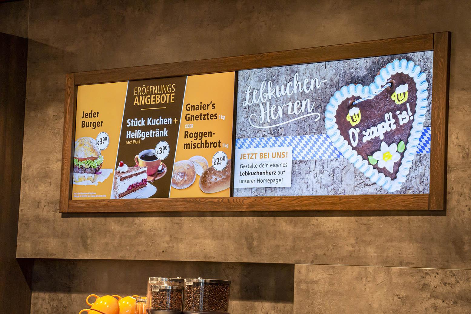 Aktuelle Werbelösungen bei Bäckerei Gnaier und Metzgerei Oberhammer in Baden-Württemberg
