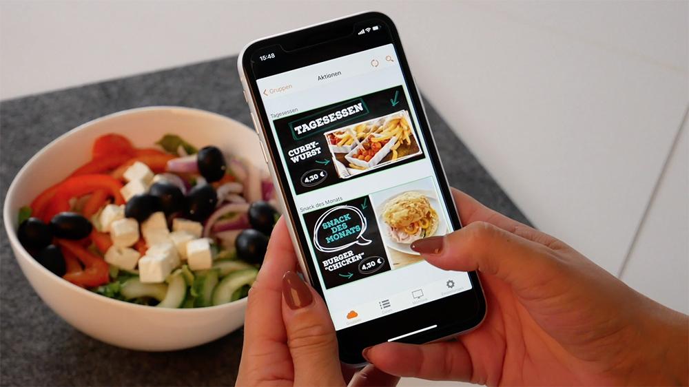 Smartphone Bilder von euren Produkten aufnehmen und diese mithilfe der VisuScreen-App direkt in eure Bildschirmpräsentation einbinden...