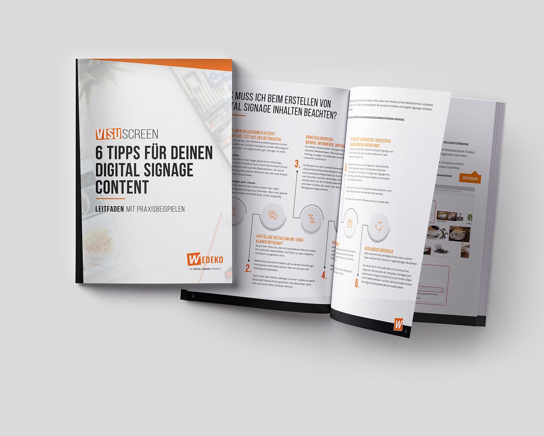 Wir haben für euch 6 super Tipps für euren Digital Signage Content zusammengefasst - inkl. Praxisbeispielen. Jetzt kostenlos downloaden!