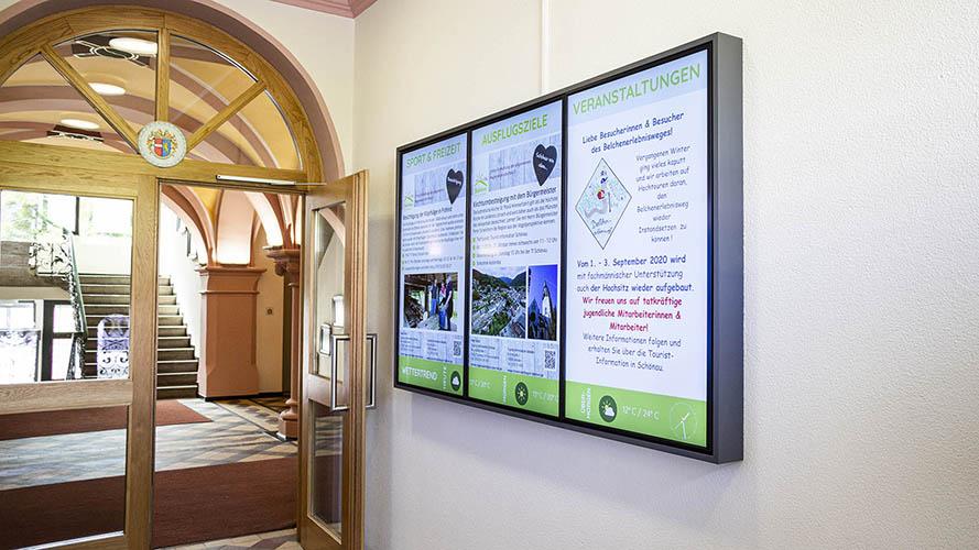 Digitales Infosystem bei der Stadt Schönau im Schwarzwald