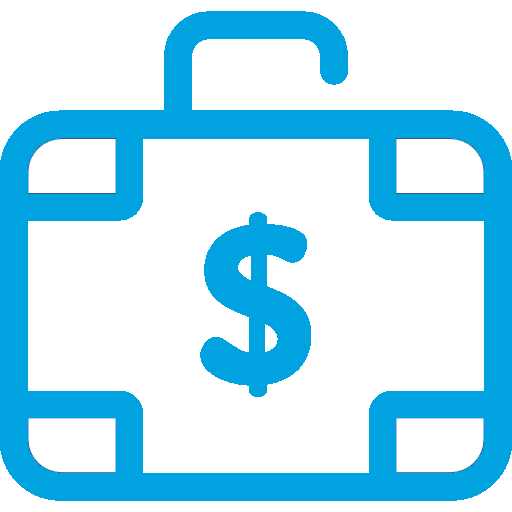Briefcase Decorated with a Dollar Sign