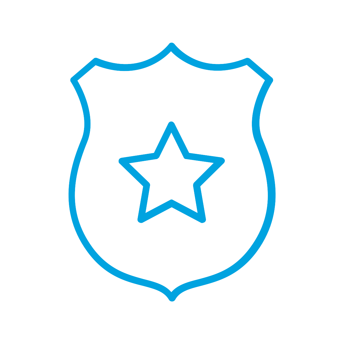 Badge Decorated with a Star