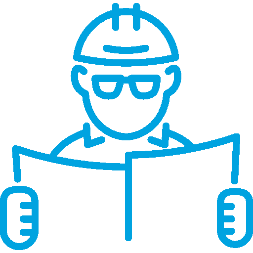 Man with Hardhat and Safety Glasses Reading Papers
