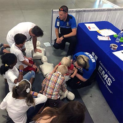 EMS teaches CPR to families