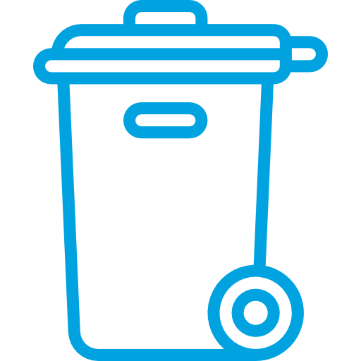 Trash Can with Recycle Symbol