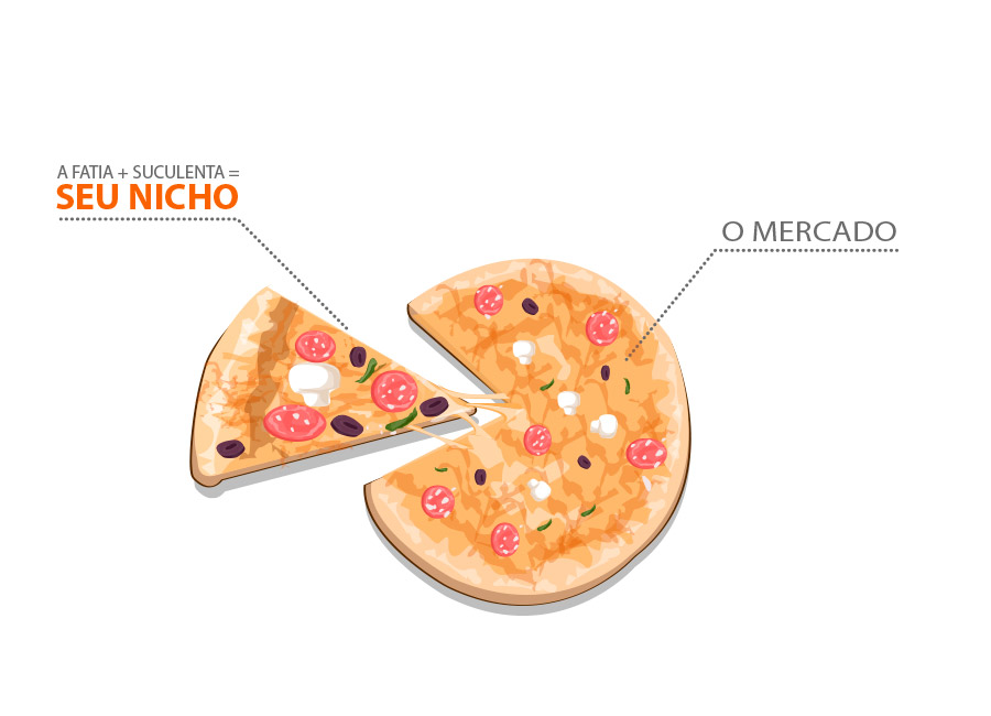 Gráfico de pizza sobre nicho de mercado