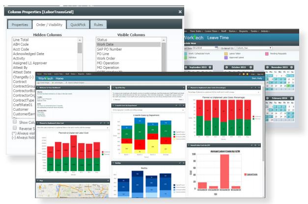 platform time and attendance dashboard screenshot
