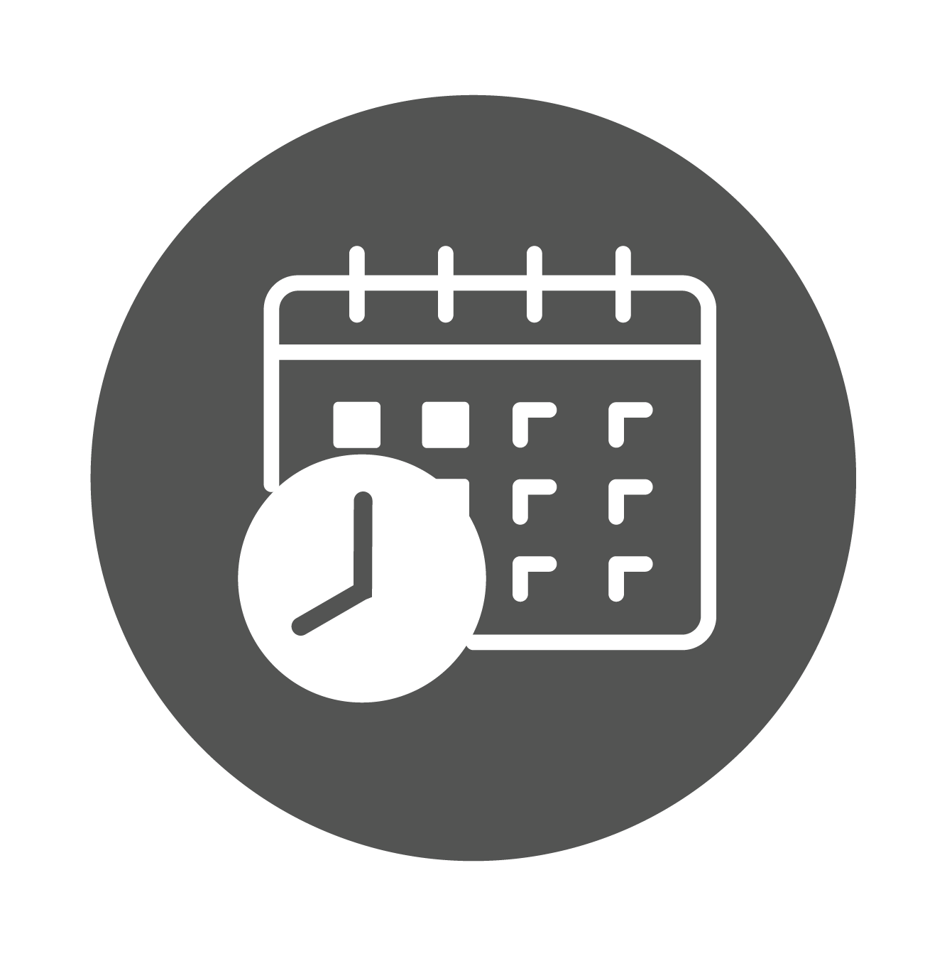 Platform Planning & Scheduling icon a calendar with a clock icon.