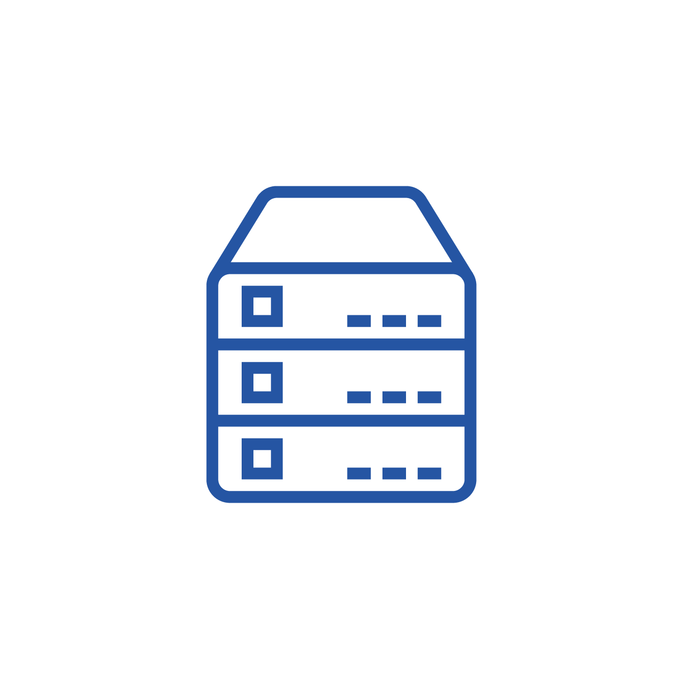 Server icon to represent the Prometheus Master Data As-a-Service module.