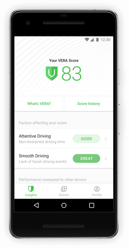 Driver App Insights for Self-Coaching screen 2