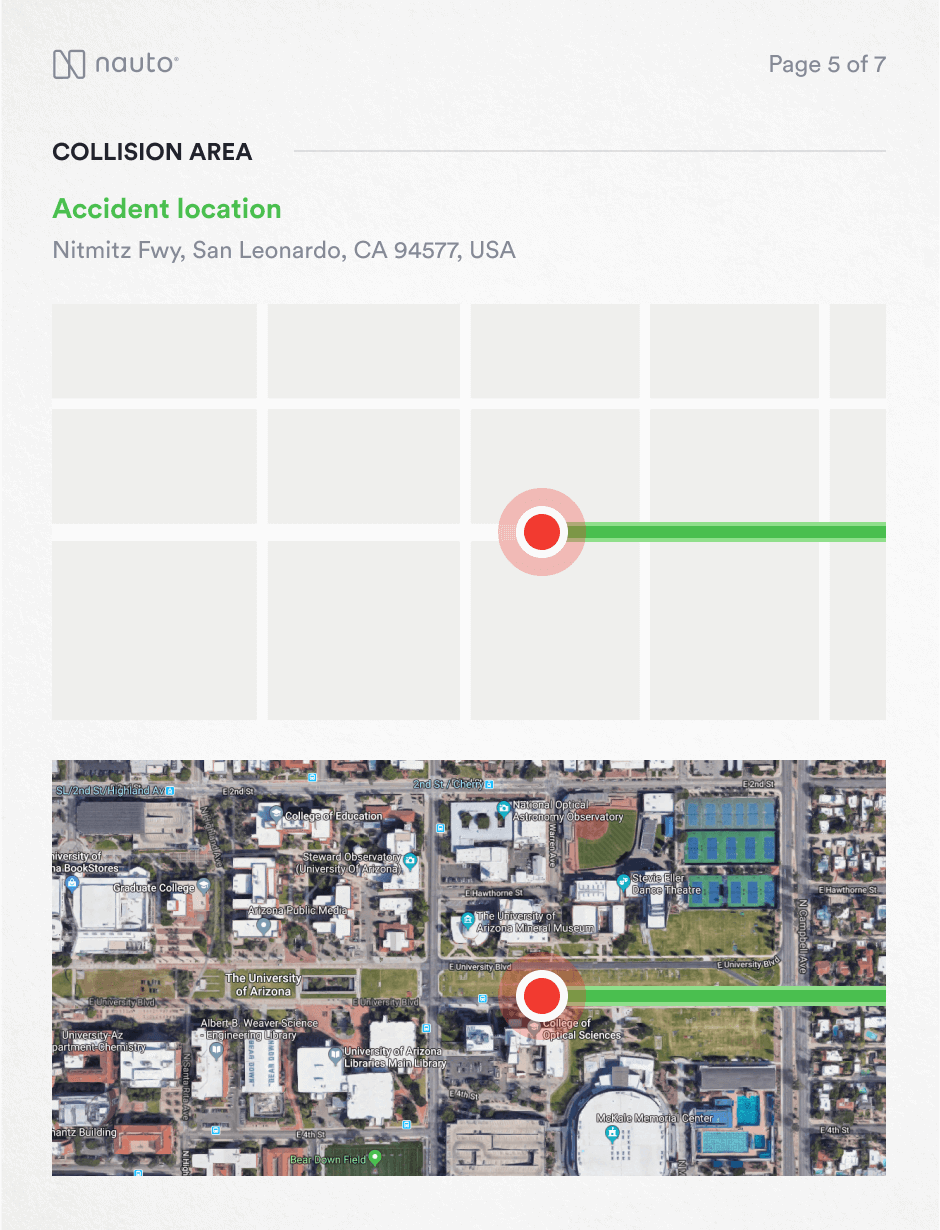 Screenshot of a Location and Map View Report