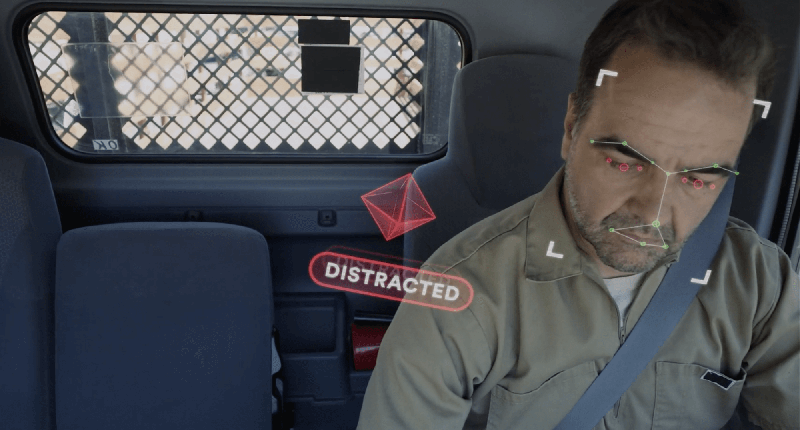 Photo of a distracted fleet driver