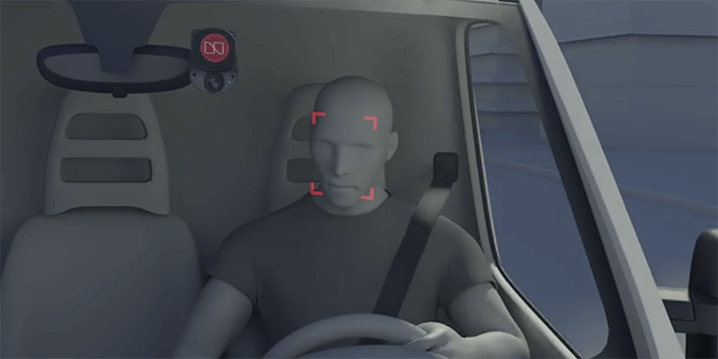 3D rendering of a distracted driver behind the wheel