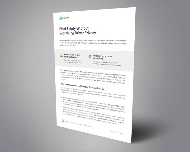 Fleet Safety Without Sacrificing Driver Privacy