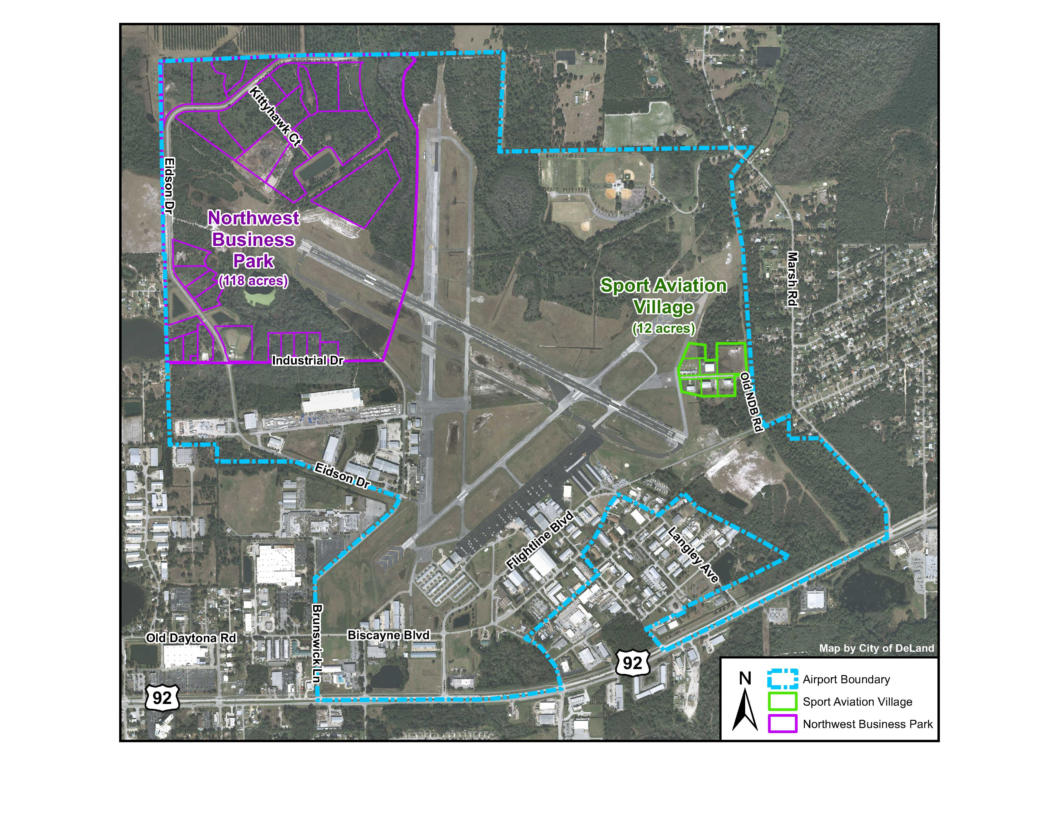 DeLand Airport Aerial Map