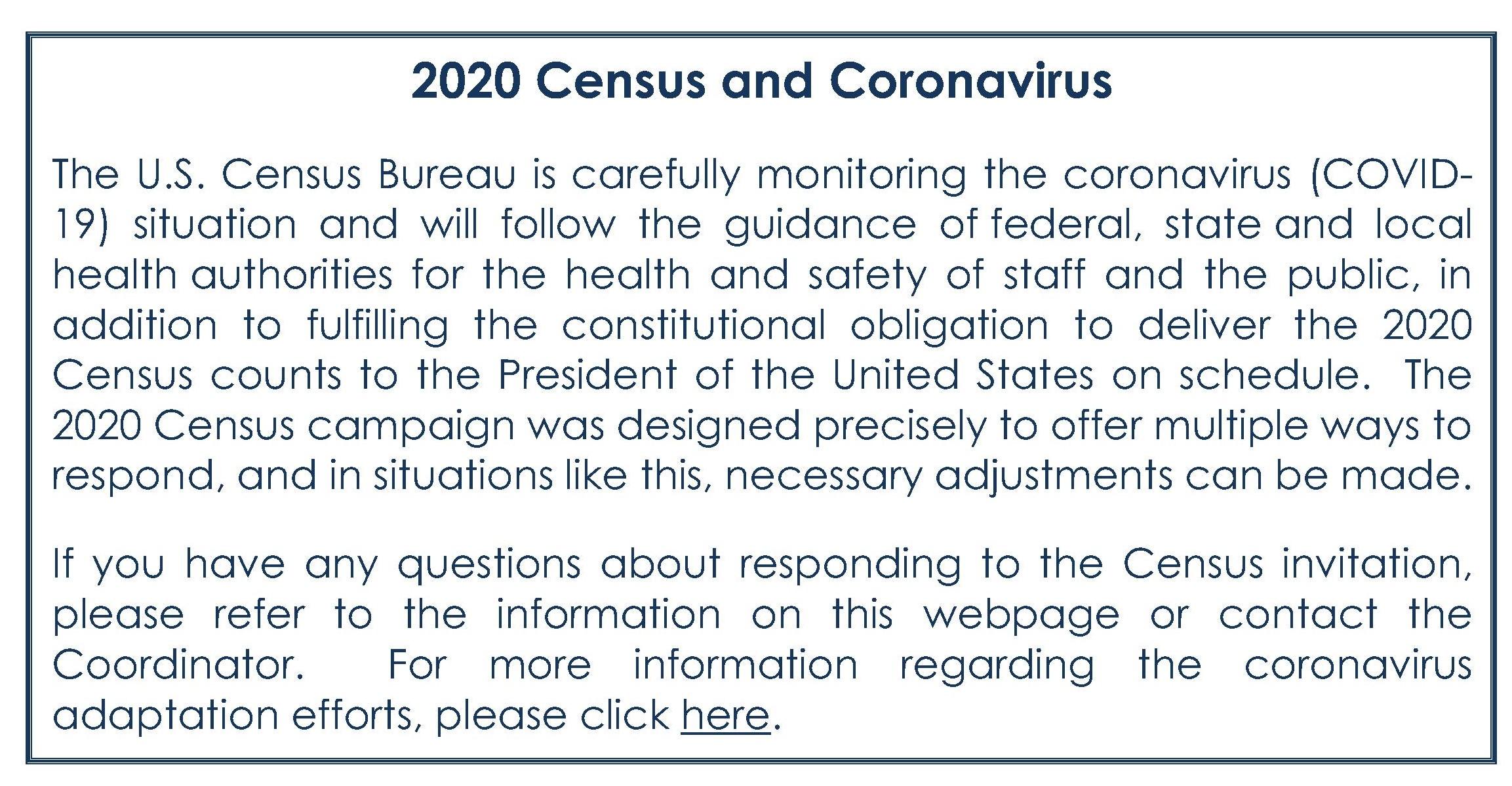 2020 Census and Coronavirus