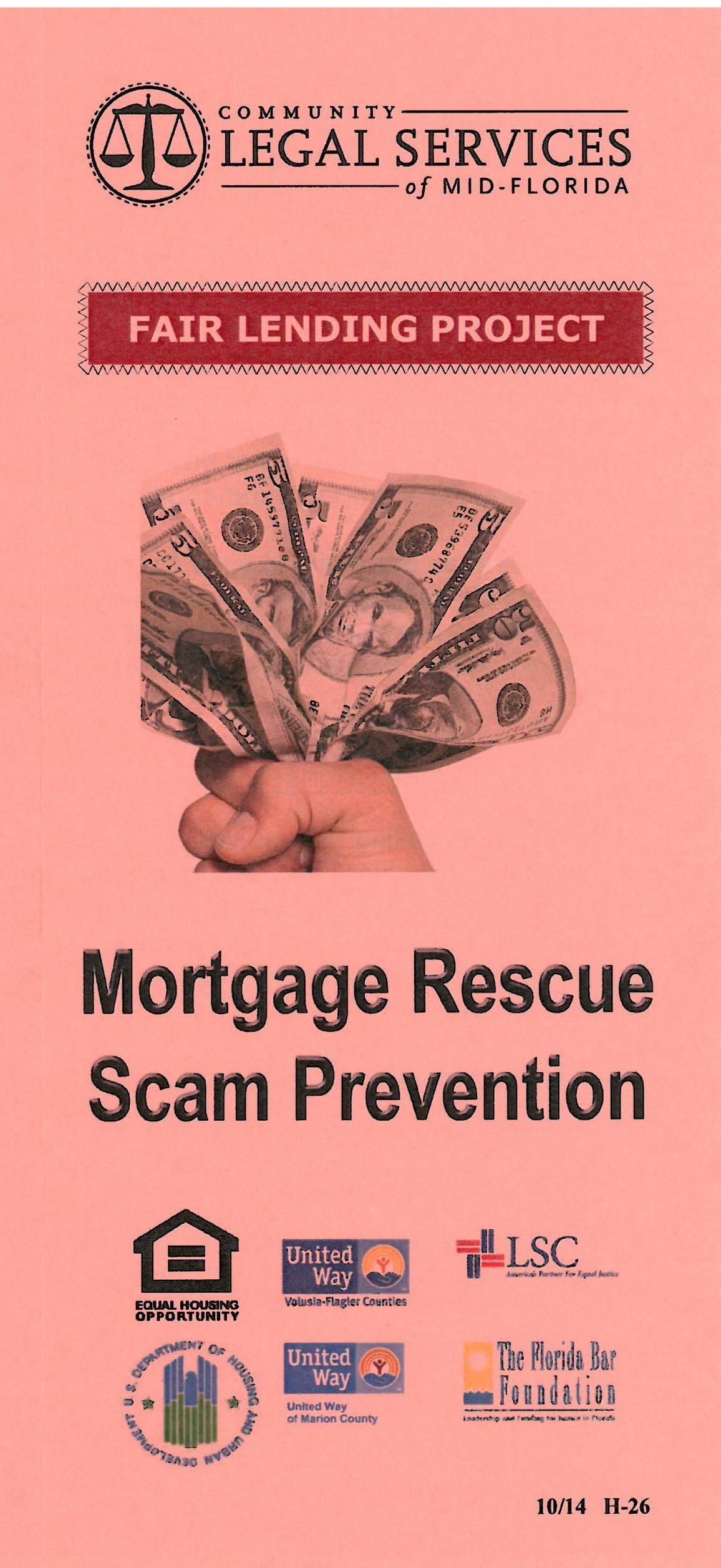 Mortgage Rescue Scam Prevention
