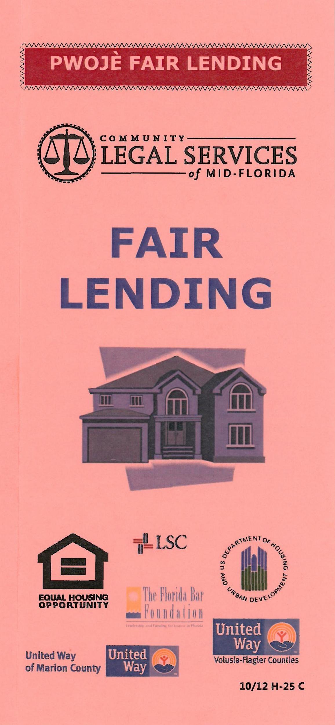 Pwoje Fair Lending