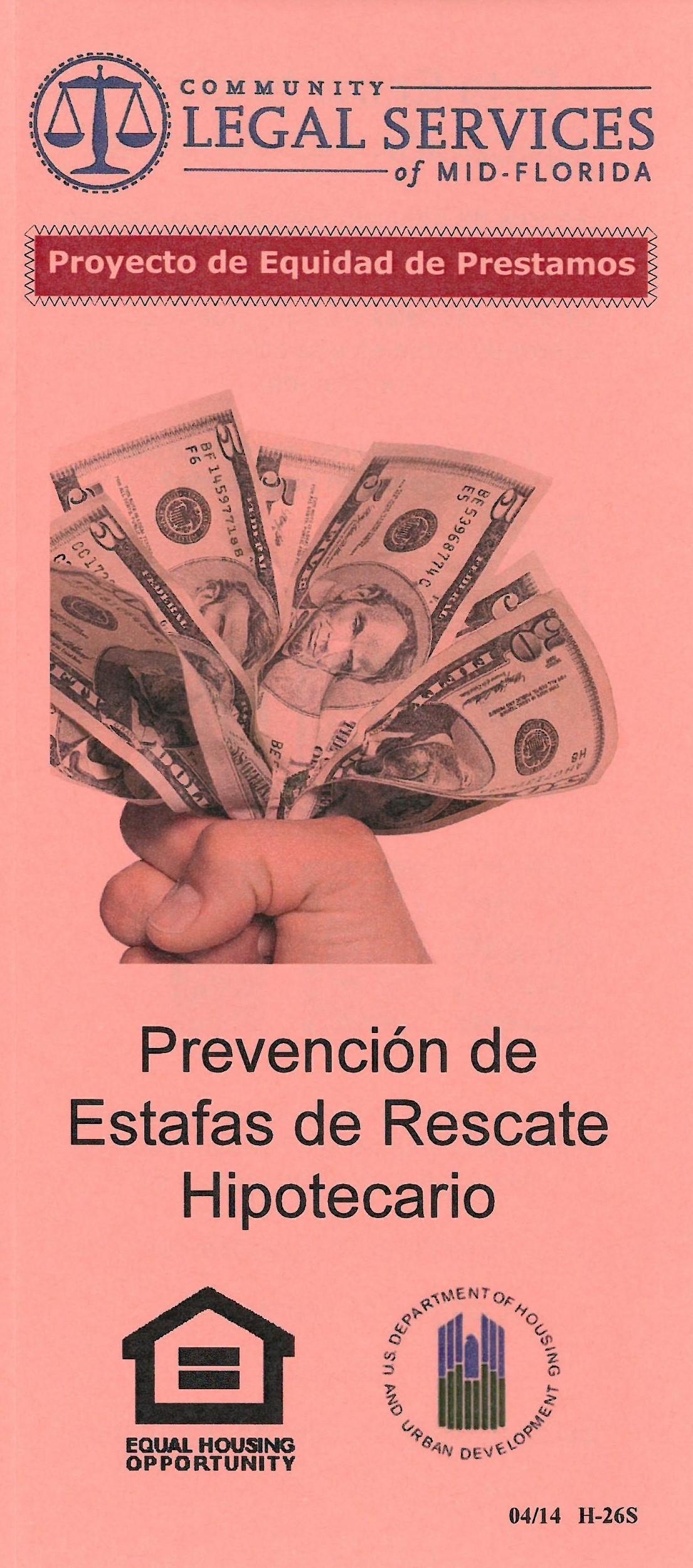 Prevencion de Estafas de Rescate Hipotecario