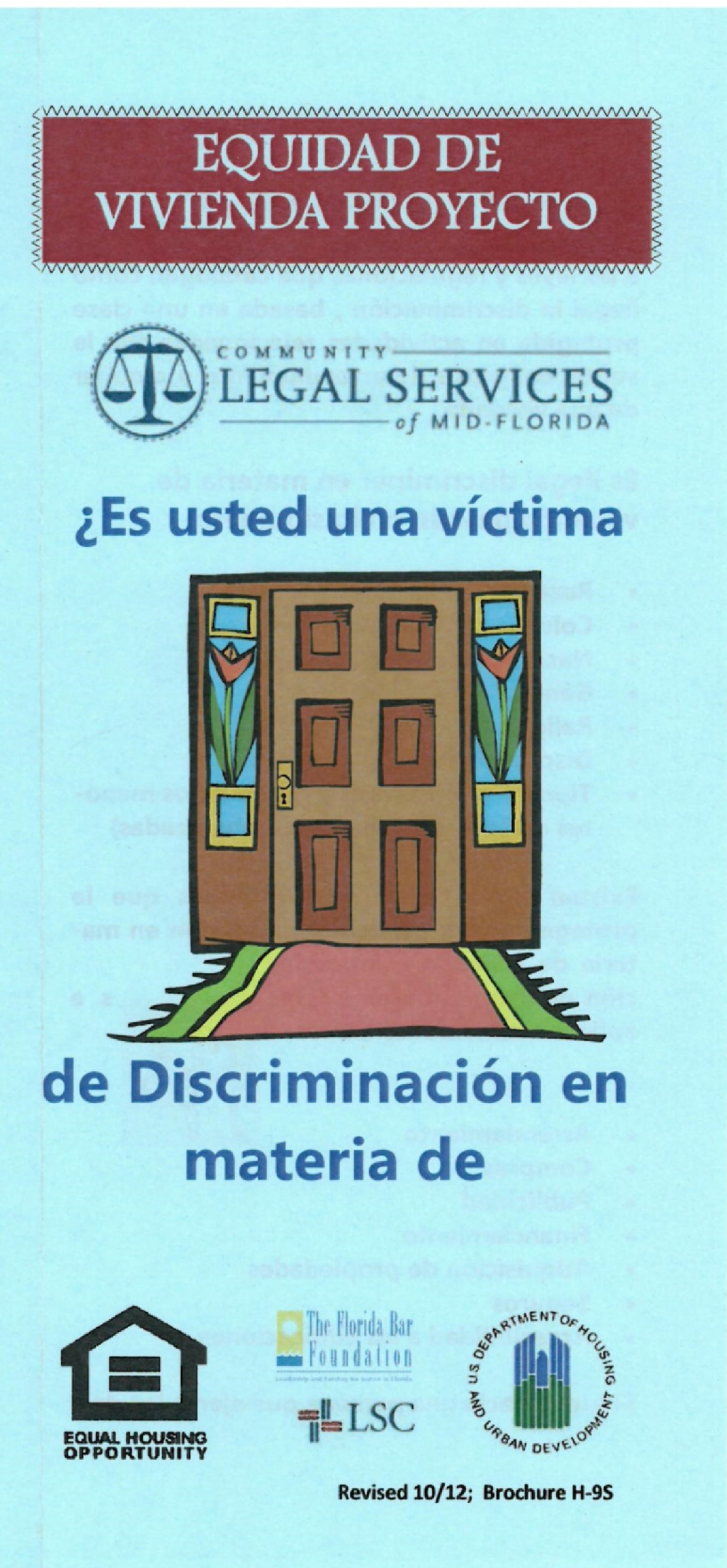 Es Usted Una Victima de Discriminacion en Materia de