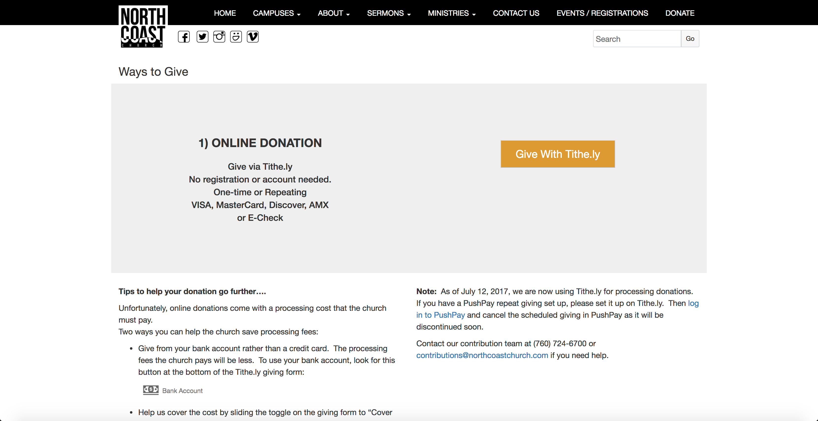 15 Churches With Awesome Online Giving Pages