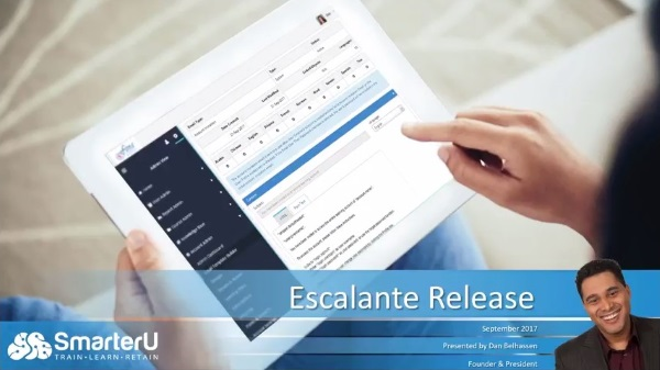 Escalate Release - Click to watch the walkthrough - SmarterU LMS - Online Training Software