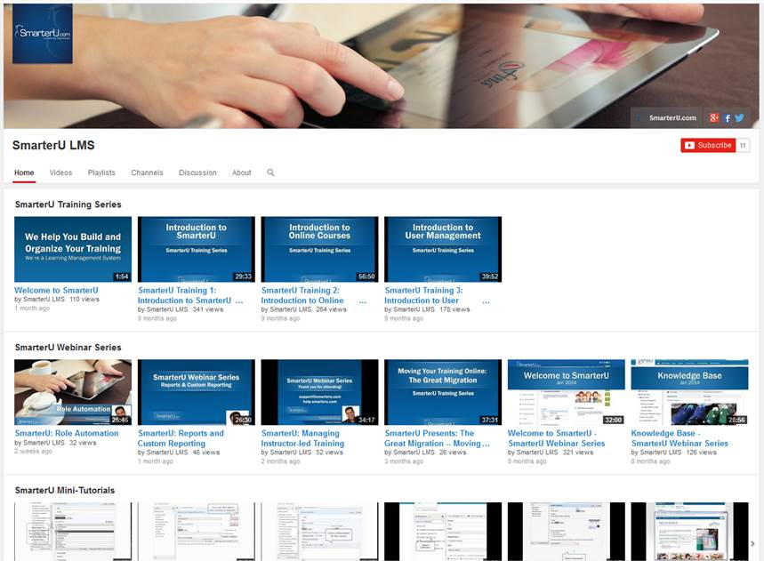 SmarterU YouTube Channel - SmarterU LMS - Learning Management System.