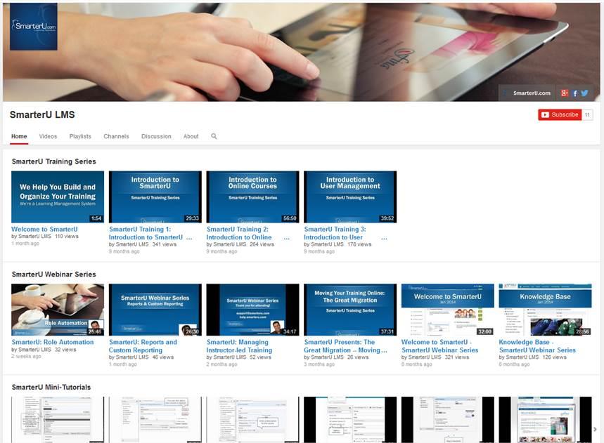 SmarterU YouTube Channel - SmarterU LMS - Learning Management System