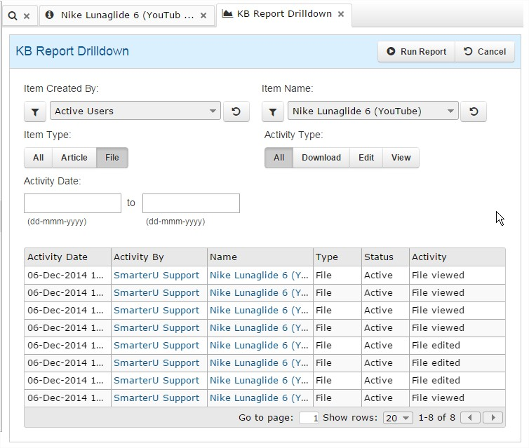 Knowledge Base Reporting - SmarterU LMS - Corporate Training