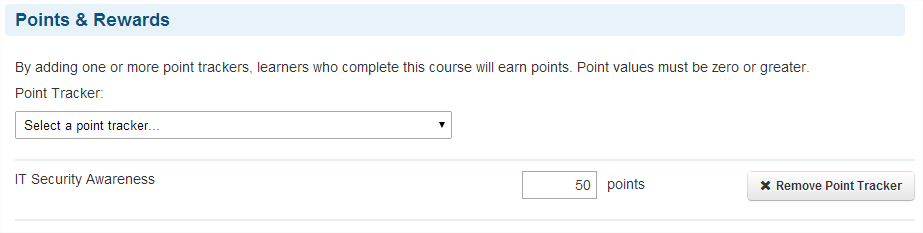 Points & Rewards - SmarterU LMS - Corporate Training