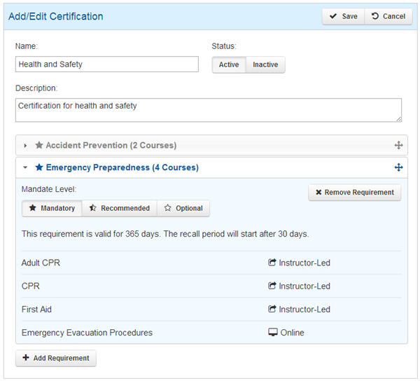 RCR Add Certification - SmarterU LMS - Learning Management System