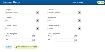Learner Report - SmarterU LMS - Learning Management System