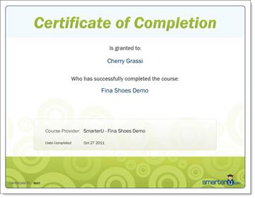 Certificate - SmarterU LMS - Corporate Training